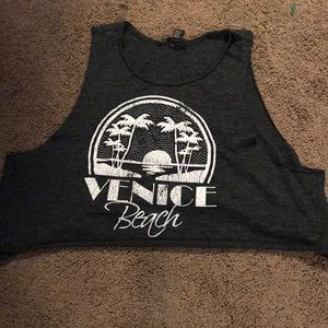 Forever 21 Venice beach crop top muscle tank